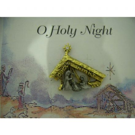 Austrian Crystal Pin Badge, O Holy Night